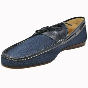 "Authentic Hermes ""Mocassin Homme Amico Toile"""